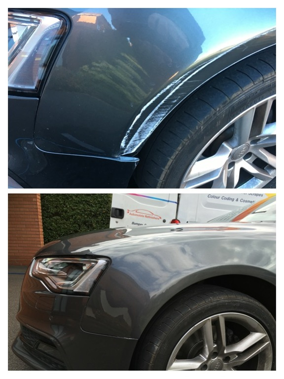 Example of bodywork repair